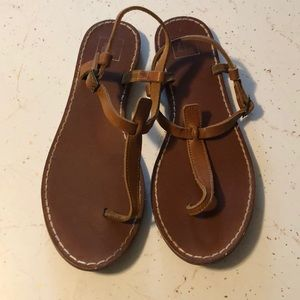 GAP LEATHER ROMAN SANDALS SZ 9